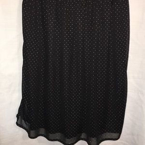 BeBop Dresses - Be Bop mini dress black with silver dots size XSM